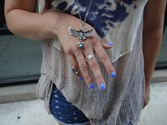 Blue. Navajo Jewelry. Free People. Soulstitches.