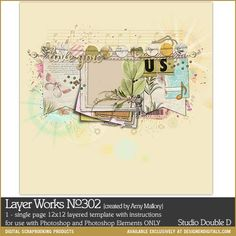 Layer Works No. 302- Studio Double-D Templates- LT711416- DesignerDigitals