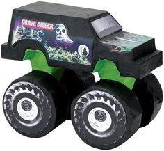 Monster Truck Party Favors also make great party game prizes. You can find Monster Truck party supplies, come up with fun party games and decorate some homemade cupcakes, add those party favors and y Digger Birthday Parties, Digger Party, Birthday Pinata, Pinata Party, A Birthday Party, Boy Birthday, Birthday Ideas, Backyard Birthday, Fourth Birthday