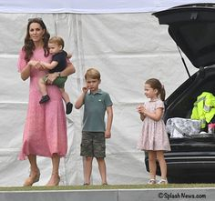 - We had a delightful surprise this morning when we learned the Duchess and all three Cambridge children went to a charity polo match! Duchess Kate with Prince Louis, Prince George and Princess Charlotte. Duchess Kate, Duke And Duchess, Duchess Of Cambridge, Carole Middleton, Prince William Family, Prince William And Catherine, Buckingham Palace, Herzogin Von Cambridge, Prinz William