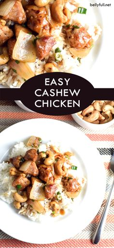 Easy Cashew Chicken - Forget the takeout and cook in with this super easy Chinese-American dish. It's simple, flavorful, and also great the next day if you have any left over