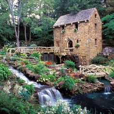 The Old Mill, North Little Rock, Arkansas, most famous for its appearance in the opening credits of the movie, Gone with the Wind. My sister got married here! :)