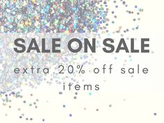 We just reloaded our Sales Racks! Now through this Weekend get an additional 20% off already reduced prices!