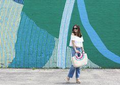 Green Blue White Wall Mural Avondale Chicago