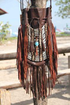Boho fringed leather bag, brown leather bag, fringe purse | Clothing, Shoes & Accessories, Women's Handbags & Bags, Handbags & Purses | eBay!