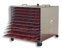 L.E.M. Products 10-Tray Stainless Steel Dehydrator