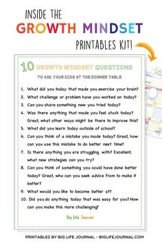 How to Teach Problem-Solving to Kids (by age) – Big Life Journal Study Skills, Coping Skills, Social Skills, Growth Mindset For Kids, Growth Mindset Activities, Growth Mindset Classroom, Reflective Journal, Journal Questions, Brain Based Learning