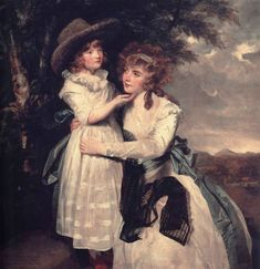 Miss Cocks and her Niece by Reynolds, c. 1789    The young girl is wearing a chemise a la reine.