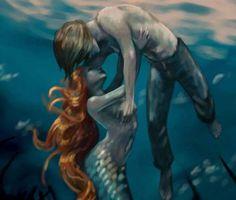 Fantasy Artwork, mermaid saving a sailor Dark Mermaid, Mermaid Art, The Little Mermaid, Vintage Mermaid, Art Vampire, Vampire Knight, Fantasy Mermaids, Mermaids And Mermen, Magical Creatures