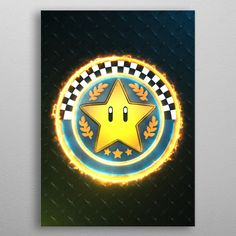 Star Cup emblem poster by from collection. By buying 1 Displate, you plant 1 tree. Wall Art Prints, Poster Prints, Canvas Prints, Fine Art Posters, 3d Star, Painted Cups, Muse Art, Office Art, Print Artist