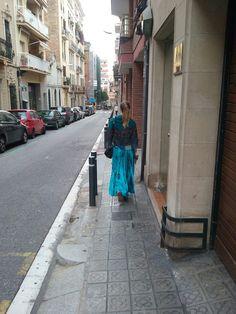 Silk skirts in Barcelona