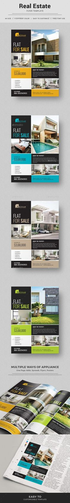 Real Estate Flyer Template PSD. Download here: https://graphicriver.net/item/real-estate-flyer/17525381?ref=ksioks