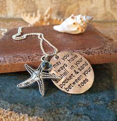Ocean Beach Pendant Necklace-Starfish by GrecoGirlJewelry