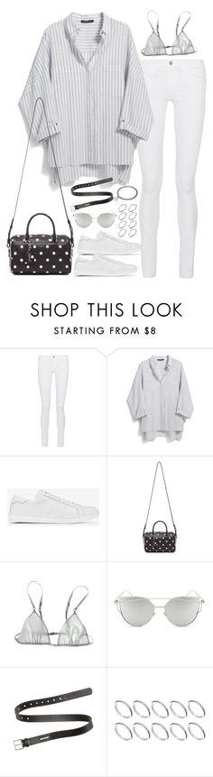 """""""Untitled#4301"""" by fashionnfacts ❤ liked on Polyvore featuring Frame Denim, Violeta by Mango, Yves Saint Laurent, Loup Charmant, Chicnova Fashion, Acne Studios, ASOS and A.P.C."""