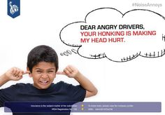 Please don't honk just because you are bored/angry/stressed/whatever! #NoiseAnnoys