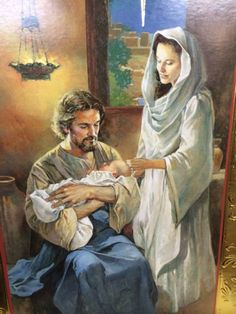 the holy family, Joseph holding Jesus Catholic Art, Catholic Saints, Religious Art, Religious Pictures, Jesus Pictures, Arte Lds, Image Jesus, Lds Art, Jesus Christus
