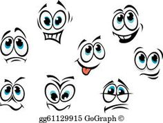 Comics cartoon faces Stock Images