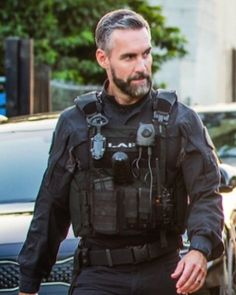 Designer Clothes, Shoes & Bags for Women Better Off Ted, Swat Police, Tv Series 2017, T Tv, Beard Love, Men In Uniform, Actor Model, Man Crush, American Actors