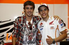 Marc Márquez and Fernando Alonso - Mugello 2014