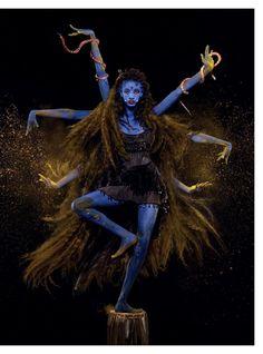 """ICONS"" Willow Smith as Kali by Carine Roitfeld & Jean-Paul Goude for Harper's Bazaar UK September 2015"