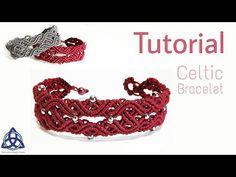 Macrame Bracelet Tutorial : Celtic Knot Design - YouTube