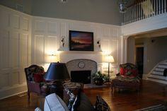 board & batten living room tall ceiling - Google Search