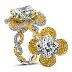 Lily Cut Diamond Ring by Lili Jewelry