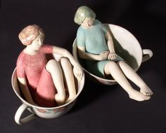 Tea and chat (2005, approx. 22 cm high) Elizabeth Price
