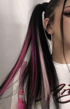 Hair Color Streaks, Hair Dye Colors, Hair Highlights, Two Color Hair, Hair Inspo, Hair Inspiration, Dye My Hair, Aesthetic Hair, Grunge Hair