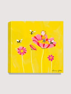 Antonia Press  Spring Bees Canvas Print