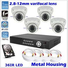 4 Ch DVR H.264 iPhone Network Sony 700TVL Dome CCTV Security Camera + 500GB HDD | Good Camera Brands Cctv Security Cameras, Security Surveillance, Surveillance System, Best Camera, Hdd, Sony, Photo And Video, Iphone