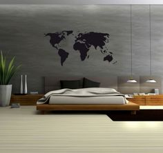Wallsticker worldmap