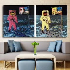 Houston, We're On The Moon Canvas 😍 Are you an avid pop art fan? So are we! 😋 Save this pin and discover more from Pretty Big Canvas, the canvas store you need for your home 🖼 With over 💯 different paintings by famous pop art artists like Andy Warhol and Roy Lichtenstein, you can be sure to find what you're looking for to decorate your living space with style 😎 And that's not the best part! 😄 Click to shop to see what great discounts are available Famous Pop Art Artists, Artists Like, Abstract Canvas Wall Art, Big Canvas, Decorating Your Home, Wall Art Prints, Houston, Roy Lichtenstein, Living Spaces