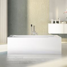 Stylish rectangular freestanding bathtub by Alcove for modern bathroom / Flory De Colt Collection Saratoga Homes, Corner Tub, To Spoil, Oeuvre D'art, Other Accessories, Modern Bathroom, Your Space, Relax, In This Moment