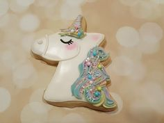 Rainbow Pastel Unicorn Sugar Cookies on Kookievision by Sweethart Baking Experiment - YouTube