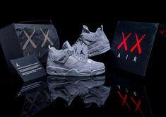e56713107cb80 Air Jordan 4 KAWS Cool Grey with Glow in the Dark soles