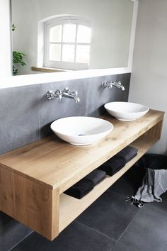 Vessel/Drop-In/Under-Mount Cast Iron Bathroom Sink in White with Painted - The Home DepotKOHLER Iron Plains 30 in. Drop-In Bathroom Sink in White with Painted Underside in WhiteBildergebnis für waschtisch Modern Sink, Modern Farmhouse Bathroom, Farmhouse Interior, Farmhouse Ideas, Bathroom Sink Design, Bathroom Interior, Bath Design, Bathroom Designs, Bathroom Toilets