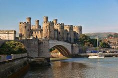 Famous Conwy Castle in Wales, United Kingdom
