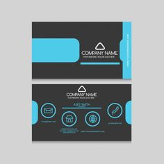 Business card design free vector business pinterest business elegant business card design free vector reheart Choice Image