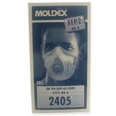 MOLDEX 2405 P2 VALVED DISPOSABLE MASKS BOX 20