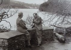 Agatha Christie, DBE and her husband, Sir Max Mallowan on the battery at Greenway. Agatha Christie House, True Crime Books, Miss Marple, Hercule Poirot, Cozy Mysteries, Perfect World, Hercules, Detective, Mystery