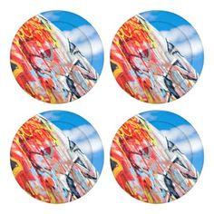 planet graffiti button covers - blue gifts style giftidea diy cyo