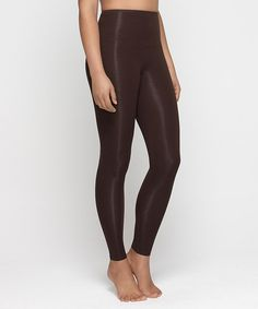 Look at this Yummie by Heather Thomson Mahogany Compact Cotton Leggings - Women
