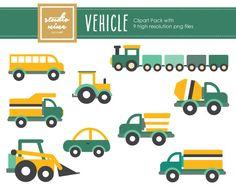 Vehicle Clipart Set by StudioNineDigitalArt on Etsy