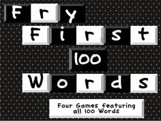 Fry First 100 Words Games product from Fashionable-Learning on TeachersNotebook.com