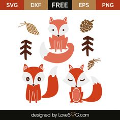 *** FREE SVG CUT FILE for Cricut, Silhouette and more *** Little fox