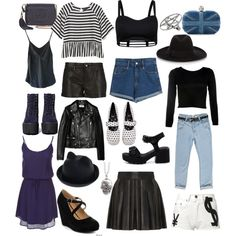 """""""rebel goth clothes closet staples dark/navy blue nasty gall"""" by thelovelymonalisa on Polyvore"""