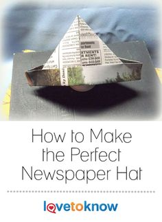 Newspaper hats are the perfect addition to your Independence Day activities and are a fun way to honor those who provide us with freedoms and independence. Make several for your summer barbecue. They can also be made for hours of play anytime of the year. Newspaper Hat, Newspaper Crafts, Snow Crafts, Hat Crafts, Origami Hat, Independence Day Activities, Diy For Kids, Crafts For Kids, Crafts For 3 Year Olds