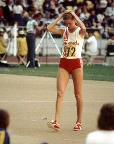 Louise Walker du Canada participe au saut en hauteur aux Jeux olympiques de Montréal de 1976. (Photo PC/AOC)