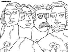 coloring pages of mount rushmore - photo#23